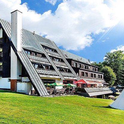 3denní pobyt pro 2 osoby s polopenzí a bazénem v hotelu Šedý vlk v Harrachově