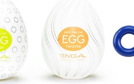 Sada 3 erekčních kroužků & honítko Tenga Egg - POŠTOVNÉ ZDARMA