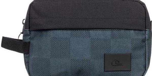 Quiksilver Cestovní kosmetická taška Chamber 4L BP Cap Check Black EQYBL03008-KVJ7