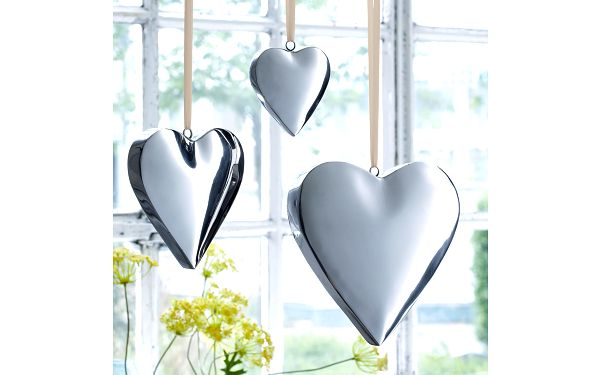 Dekorace Stříbrné srdce