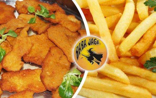 Pochutnejte si na 500 g kuřecích miniřízečků s hranolky a domácí omáčkou v restauraci. To vše Baba Jaga na Vinohradech za fantastickou cenu. Neváhejte a přijďte ochutnat.