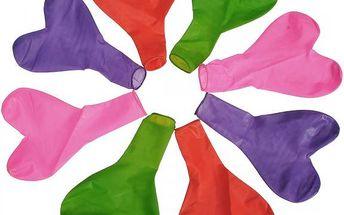 Balonky na párty ve tvaru srdíček - 100 kusů