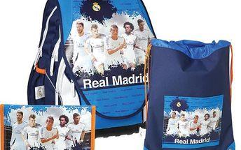 Školní batoh SUNCE ABB Real Madrid set s anatomickým tvarováním
