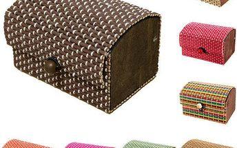 Bambusová šperkovnička - více barev