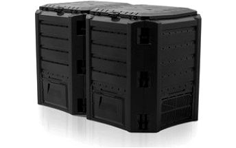 COMPOGREEN Kompostér 800 L (2x400l) černý