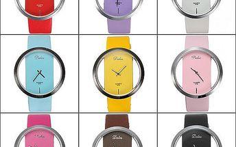Jednoduché elegantní hodinky - unisex, v 9 barvách