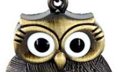 Přívěsek s hodinkami ve tvaru sovy