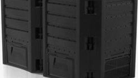 Kompostér COMPOGREEN 800 L (2x400l) černý