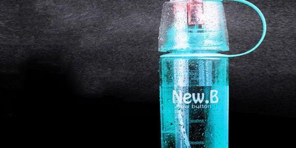 Sportovní láhev s osvěžovačem 2v1 Bottle Spray 600 ml
