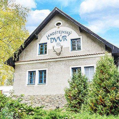 3 až 5denní pobyt pro 2 s polopenzí v hotelu Landštejnský dvůr ve Slavonicích