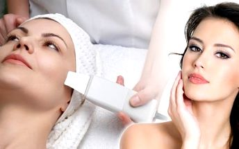 Luxusní hloubkové vyčistění pleti ultrazvukovou špachtlí za pomocí ionizéru a vysoce efektivní čistící masky, obsahující aktivní bambusové uhlí. Přírodní maska Pilaten odstraňuje černé tečky a akné.