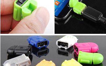 Micro USB - USB redukce - modrá barva - dodání do 2 dnů