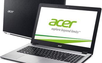 Notebook Acer Aspire V15 V3-574-72HY (NX.G1KEC.001), černý + 200 Kč za registraci