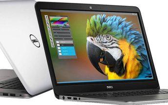 Notebook Dell Inspiron 15R 7548, stříbrný + 200 Kč za registraci