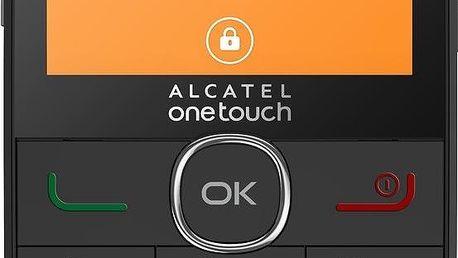 Mobilní telefon Alcatel OT-2004C pro seniory, černý + 200 Kč za registraci