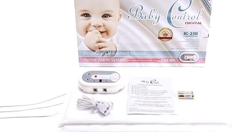 Baby Control Digital BC-230 - se třemi senzorovými podložkami