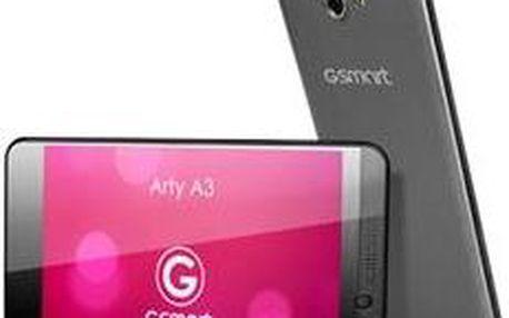 Mobilní telefon Gigabyte GSmart ARTY A3, černý + bílý kryt + 200 Kč za registraci