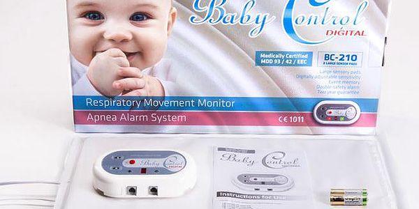 Baby Control Digital BC-210 - se dvěma senzorovými podložkami