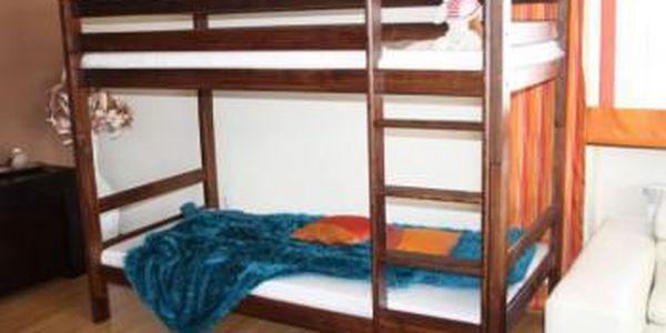 Patrová postel Adas - ořech - lak
