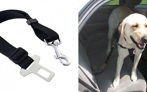 Bezpečnostní pás pro psa do auta 45-70cm/ 25mm - snadné uchycení do existujícího bezpečnostního pásu!