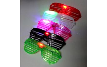 Brýle na párty s LED světlem - 6 barev