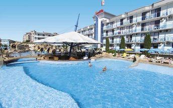 Bulharsko - Slunečné Pobřeží na 8 až 15 dní, polopenze s dopravou letecky z Prahy nebo vlastní 200 m od pláže