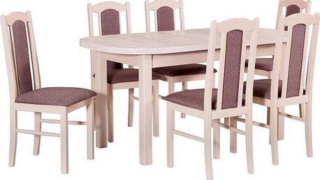 Zátěžový jídelní set 6+1 STRAKOŠ-II vhodný do restaurací i domácností