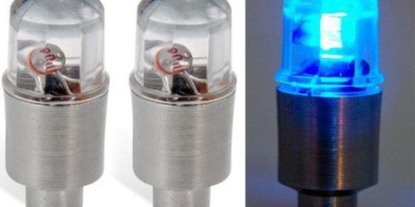 Svítící ventilek - modrá barva světla