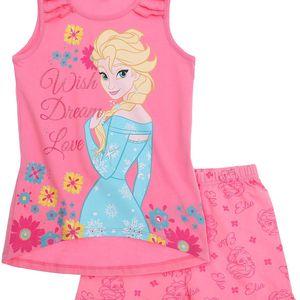 Disney Dívčí set tílka a šortek - růžový, 116 cm