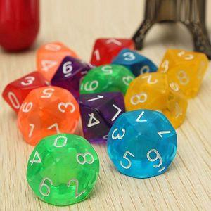 Sada hracích kostek s 10 hranami
