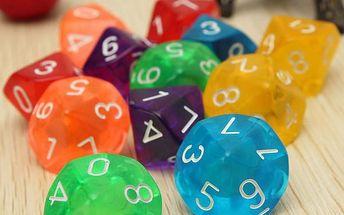 Sada hracích kostek s 10 hranami - poštovné zdarma