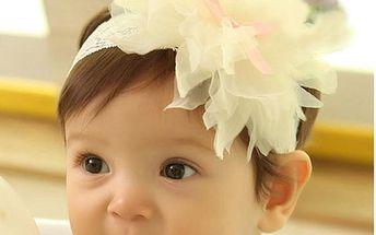 Dětská slavnostní čelenka s kytičkou