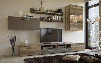 Obývací stěna Sconto Amanda s dostatkem úložného prostoru