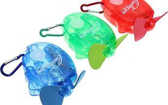 Letní mini větráček s vodním rozprašovačem