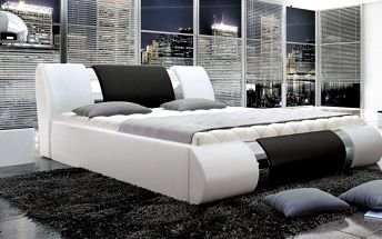 Luxusní čalouněná postel s úložným prostorem Daniel