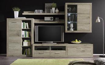 Obývací stěna Cancan s dostatkem úložného prostoru. POSLEDNÍ KUSY ZA TUTO CENU!
