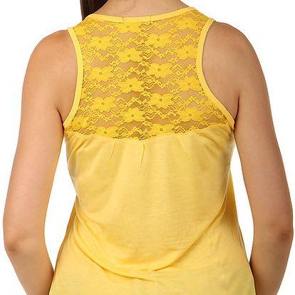 Tílko s krajkou na zádech žlutá