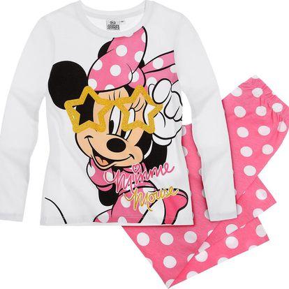 Disney Dívčí pyžamo s Minnie -bílé puntíky, 104 cm