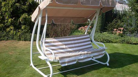 Zahradní houpačka s pevnou kovovou konstrukcí Rojaplast De-luxe