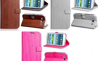 Ochranné pouzdro pro Samsung Galaxy S3 - dřevěný vzor, 3 barvy