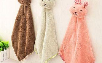 Dětský ručník v podobě králíčka - Zelená