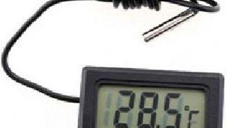 Mini LCD digitální teploměr do auta, bytu nebo pro měření teploty vody - dodání do 2 dnů