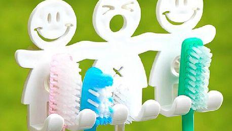 Praktický držák na zubní kartáčky - dodání do 2 dnů