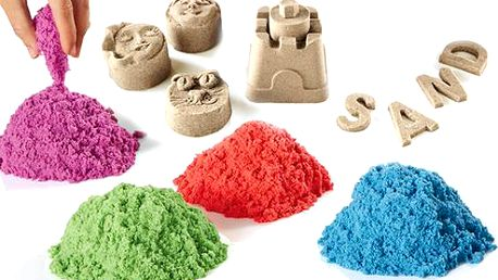 Zázračný tekutý písek - 4x barvy v jenom balení, celkem 1kg