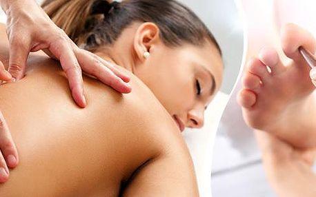 Hloubková terapeuratická masáž + akupresura, prohřívací zábal, délka 60 minut