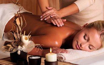 90minutová relaxační aromaterapeutická masáž