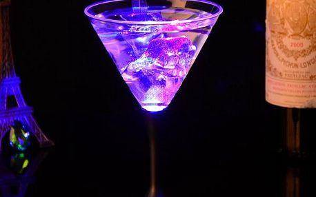 Svítící LED sklenice na drinky