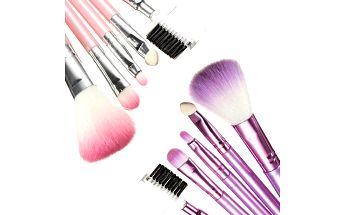 Sada 6 ks kosmetických štětečků - 2 barvy