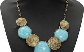 Robustní vintage náhrdelník s kolečky