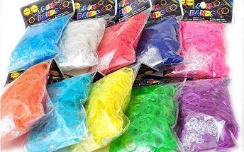 600 ks barevných gumiček a 24 ks klipů na výrobu náramků